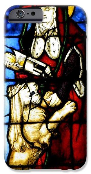 Stained Glass Window C Freiburg Im Breisgau iPhone Case by Leone M Jennarelli