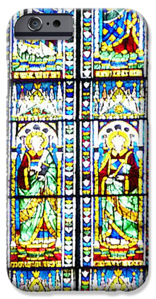 Windows Digital iPhone Cases - Stained Glass Window Of Duomo Santa Maria Del Fiore iPhone Case by Irina Sztukowski