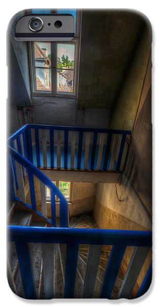 Wooden Stairs iPhone Cases - Staircase blues  iPhone Case by Nathan Wright