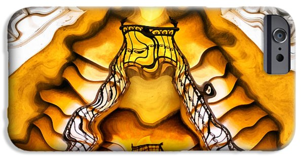 Interior Scene iPhone Cases - Staircase interior iPhone Case by Odon Czintos