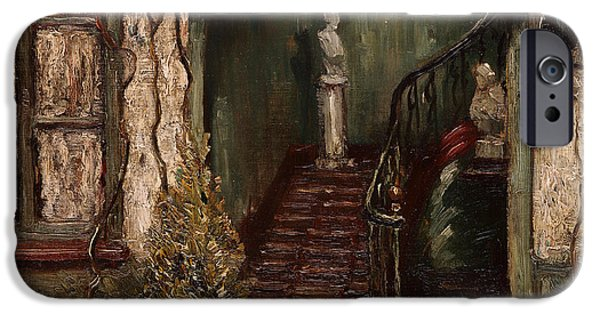 Staircase Paintings iPhone Cases - Staircase iPhone Case by William Harper