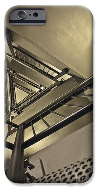 Stainless Steel iPhone Cases - Stairing up the Spinnaker Tower iPhone Case by Terri  Waters