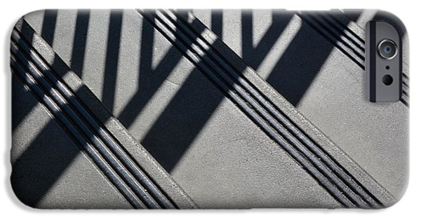 Fine Art Abstract iPhone Cases - Stairs And Rail iPhone Case by Dan Holm
