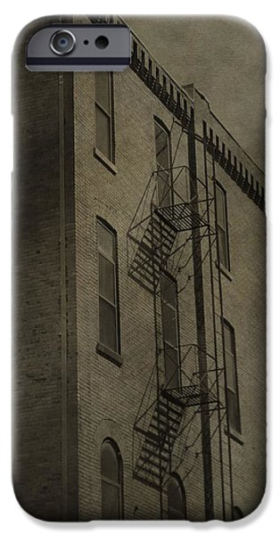 Downtown Stairs iPhone Cases - Stairs And Shadows iPhone Case by Dan Sproul