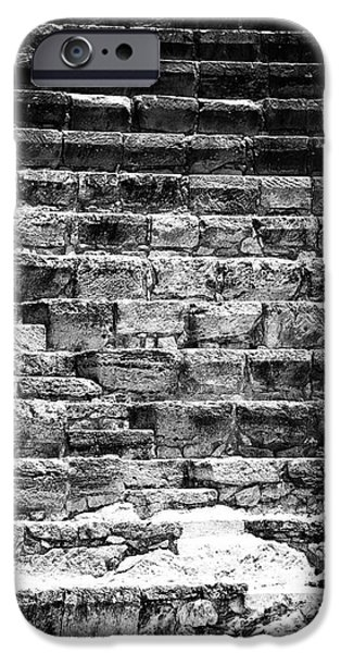 Stairs from the Past iPhone Case by John Rizzuto