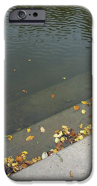 Stairs leading into water iPhone Case by Matthias Hauser