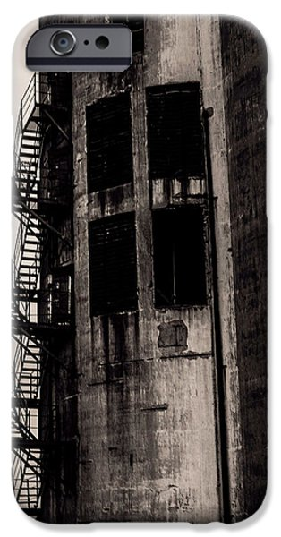 Feed Mill Photographs iPhone Cases - Stairs to Nowhere iPhone Case by Jim Markiewicz