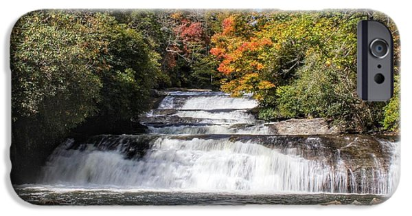 Fall iPhone Cases - Stairway Falls iPhone Case by Chris Berrier