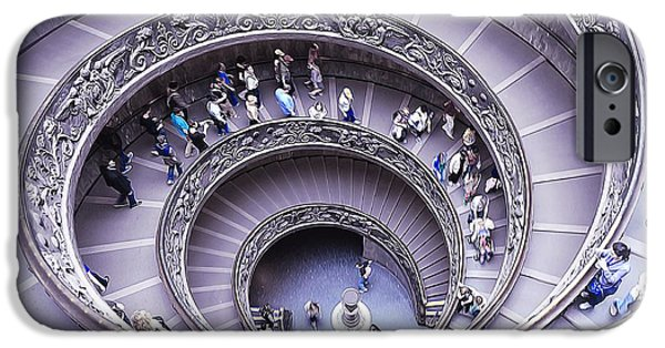 Built Structure iPhone Cases - Stairway in Vatican Museum iPhone Case by Stefano Senise