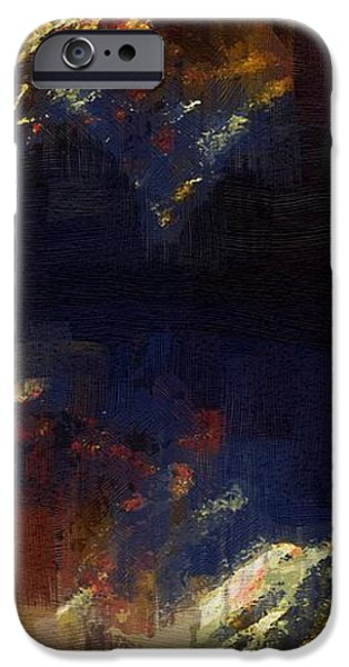 Abstract Expressionist iPhone Cases - Stairway to a Dying Star iPhone Case by RC DeWinter