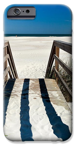 Stairway to Happiness and Possibilities iPhone Case by Michelle Wiarda