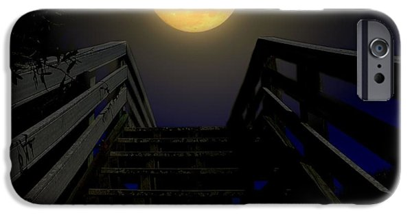 Moonscape iPhone Cases - Stairway to Heaven iPhone Case by Laura Ragland