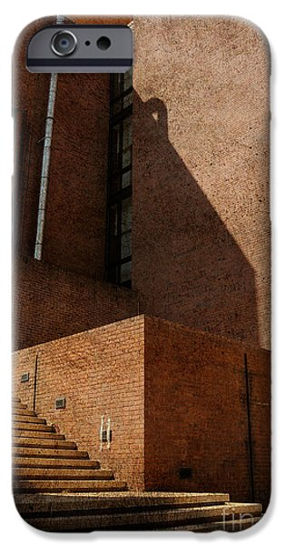 Brick Schools iPhone Cases - Stairway to Nowhere iPhone Case by Lois Bryan