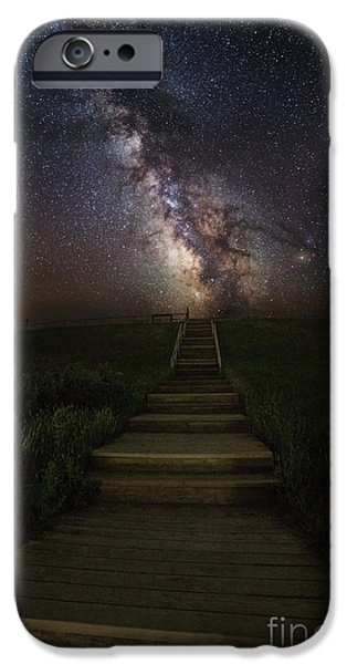 Canon iPhone Cases - Stairway to the Galaxy iPhone Case by Aaron J Groen