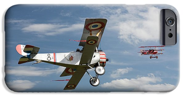 Fokker D V11 iPhone Cases - Stalked iPhone Case by Pat Speirs