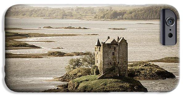 Ruins iPhone Cases - Stalker Castle vintage iPhone Case by Jane Rix