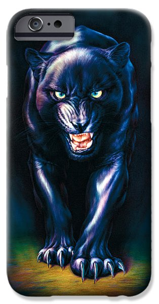 Panther iPhone Cases - Stalking Panther iPhone Case by Andrew Farley