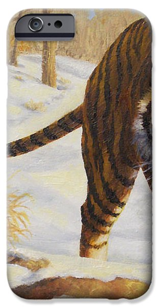 Stalking Siberian Tiger iPhone Case by Crista Forest