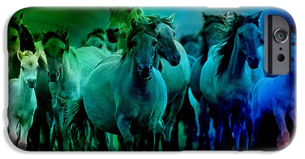 Horse iPhone Cases - Stampede iPhone Case by Marvin Blaine