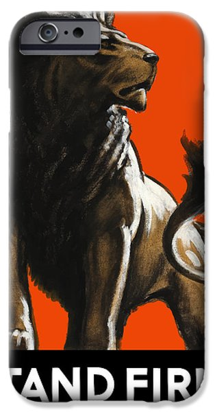Stand Firm Lion iPhone Case by War Is Hell Store