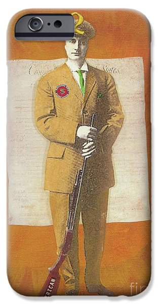 Tea Party Mixed Media iPhone Cases - Stand Up For The Second Amendment iPhone Case by Desiree Paquette