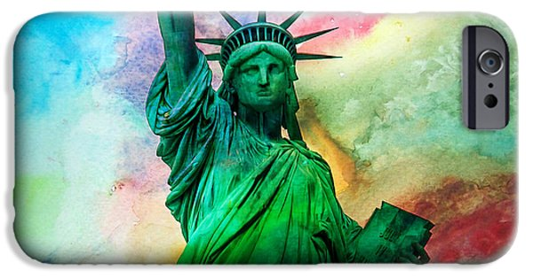 New York City Digital Art iPhone Cases - Stand Up For Your Dreams iPhone Case by Az Jackson