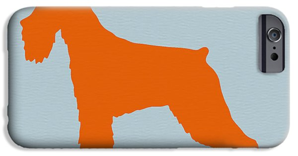 Cute Puppy iPhone Cases - Standard Schnauzer Orange iPhone Case by Naxart Studio