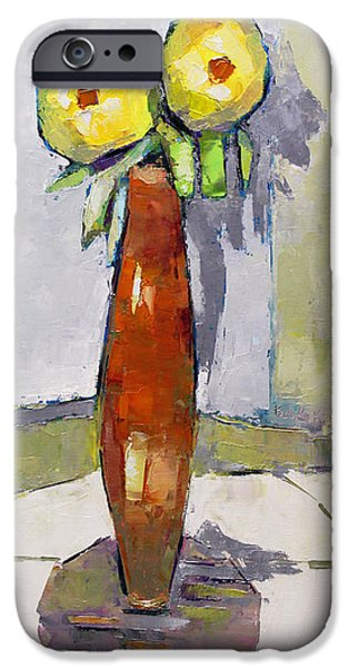 Becky Kim Paintings iPhone Cases - Standing Astride iPhone Case by Becky Kim