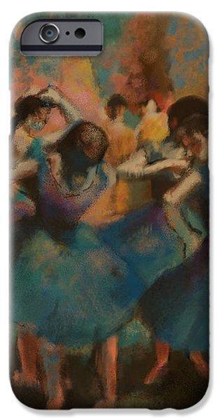 Ballet Dancers iPhone Cases - Standing Ballerinas iPhone Case by Lauren Hoover