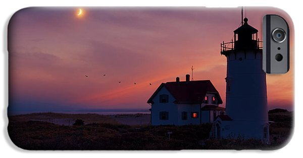 New England Lighthouse iPhone Cases - Standing Guard iPhone Case by Bill  Wakeley