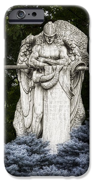 Headstones iPhone Cases - Standing Guard iPhone Case by Tom Mc Nemar