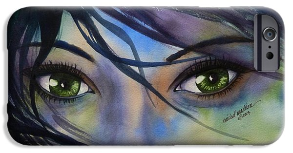Windblown Paintings iPhone Cases - Standing in the Storm iPhone Case by Michal Madison