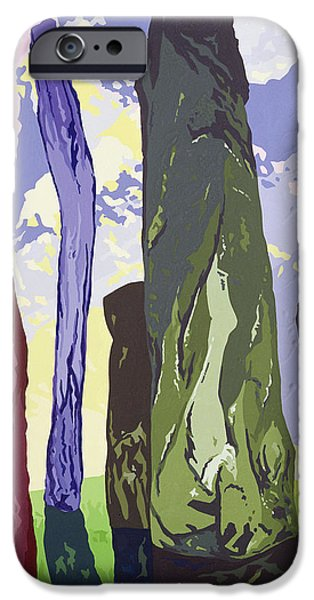 Monolith iPhone Cases - Standing Stones, Callanish, 2003 Gouache On Paper iPhone Case by Derek Crow