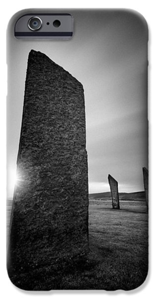 Headland iPhone Cases - Standing Stones of Stenness iPhone Case by Dave Bowman