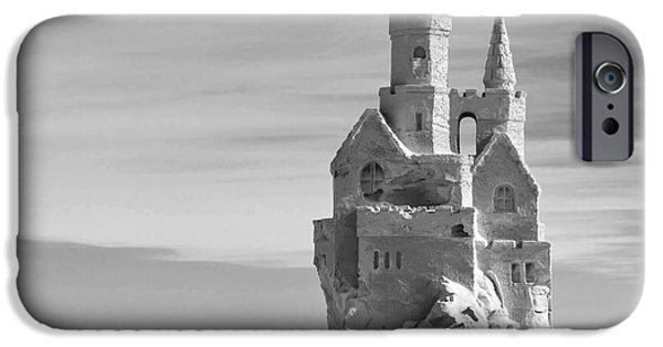 Sand Castles Photographs iPhone Cases - Standing Tall iPhone Case by Michelle Wiarda