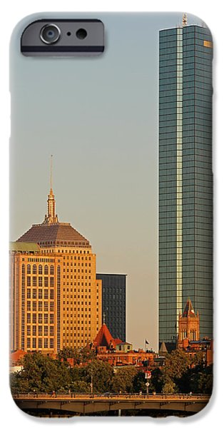 Charles River iPhone Cases - Standing Tallest iPhone Case by Juergen Roth