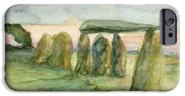 Windblown Paintings iPhone Cases - Standing the test of Time iPhone Case by Wendy Le Ber