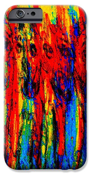 Relationship Pastels iPhone Cases - Standing together iPhone Case by Hilde Widerberg