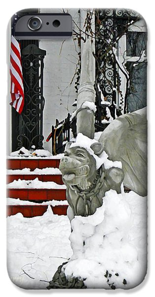 Drifting Snow Photographs iPhone Cases - Standing Watch  iPhone Case by Chris Berry