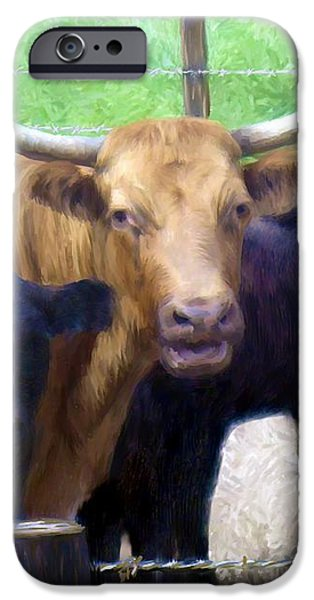 Standout Steer iPhone Case by Ric Darrell