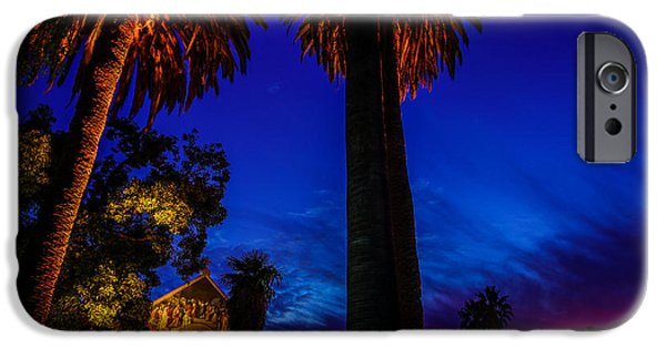 Quad iPhone Cases - Stanford University Memorial Church at Sunset iPhone Case by Scott McGuire