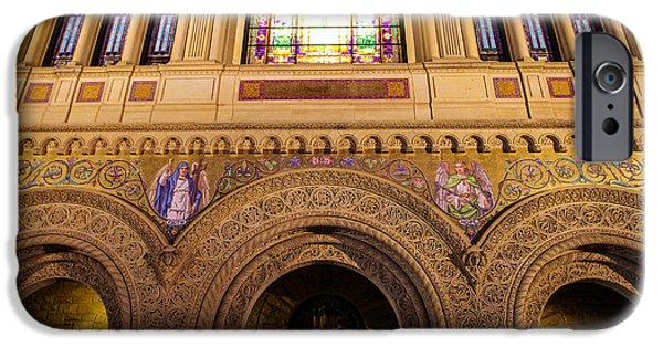 Quad iPhone Cases - Stanford University Memorial Church Close Up iPhone Case by Scott McGuire