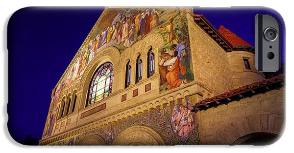 Quad iPhone Cases - Stanford University Memorial Church iPhone Case by Scott McGuire