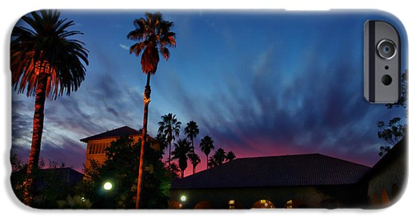 Quad iPhone Cases - Stanford University Quad Sunset iPhone Case by Scott McGuire