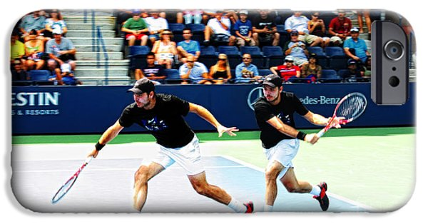 Action Shot iPhone Cases - Stanislas Wawrinka in Action iPhone Case by Nishanth Gopinathan