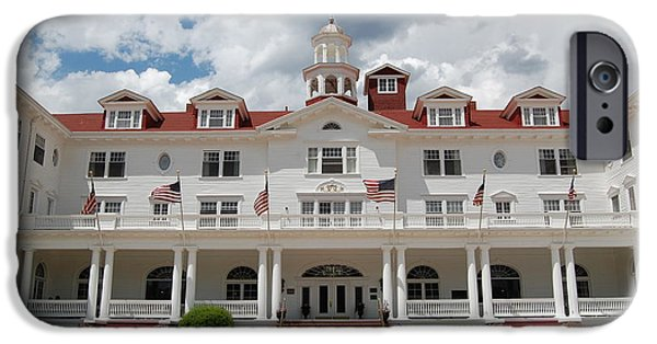 Facade iPhone Cases - Stanley Hotel Estes Park Colorado inspiration for Stephen Kings The Shining iPhone Case by Shawn O