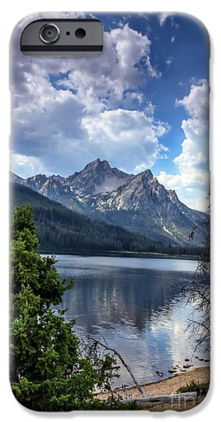 Haybale iPhone Cases - Stanley Lake View iPhone Case by Robert Bales