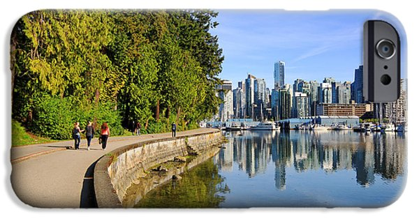 Stanley Park iPhone Cases - Stanley Park Seawall Path iPhone Case by Charline Xia