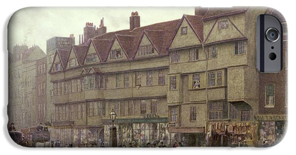 Horse iPhone Cases - Staple Inn  Holborn iPhone Case by Philip Norman