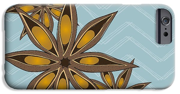 Plant iPhone Cases - Star Anise Art iPhone Case by Christy Beckwith